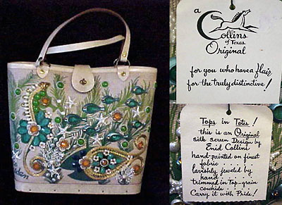Collins Bag Sea Garden With Original Box And Tags Ca Mid 1960s Auctioned On Ebay For 161 49 In April 2000 By Kottrose
